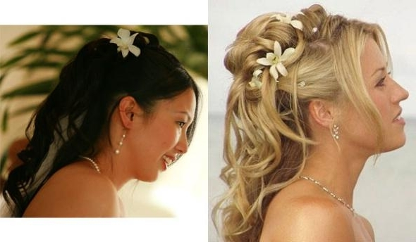 Wedding Hairstyles Half Up Half Down Part 7 | Wedding Hair Styles For Part Up Part Down Wedding Hairstyles (View 7 of 15)