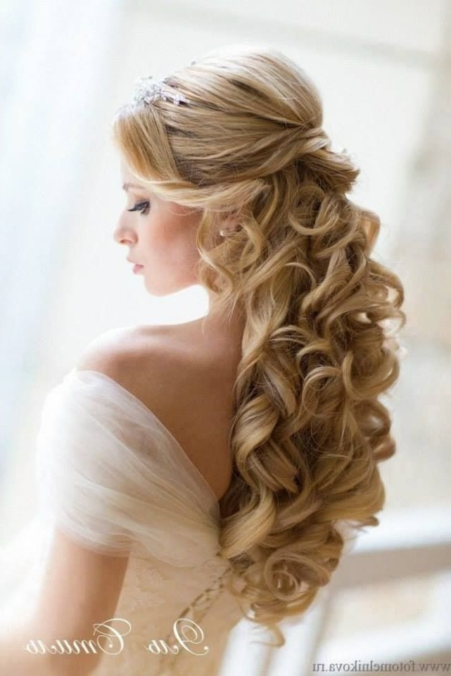 Wedding Hairstyles Half Up | Photo Gallery Of The Wedding Hairstyles With Regard To Half Up Half Down Curly Wedding Hairstyles (View 11 of 15)