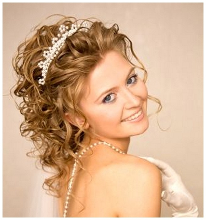 Wedding Hairstyles Ideas: Curly Half Up Beach Wedding Hairstyles For Beach Wedding Hairstyles For Long Curly Hair (View 3 of 15)
