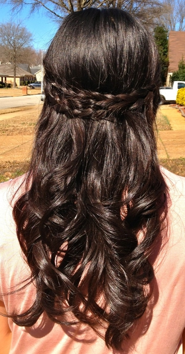 Wedding Hairstyles Ideas: Half Up Curly Wedding Hairstyles For Long Within Wedding Hairstyles For Long Thick Curly Hair (View 15 of 15)