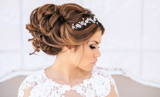 Wedding Hairstyles Ideas: Long Hair Updo Curly Hairstyles For With Inside Wedding Hairstyles For Long Hair With Headband (View 14 of 15)