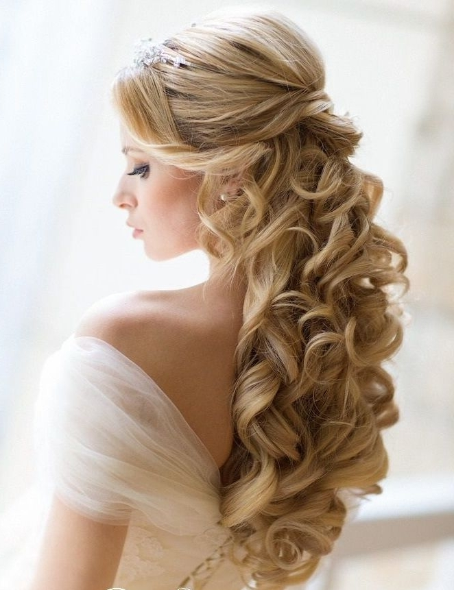 Wedding Hairstyles Ideas: Side Pony Curly Half Up Long Modern For Curls Down Wedding Hairstyles (View 14 of 15)