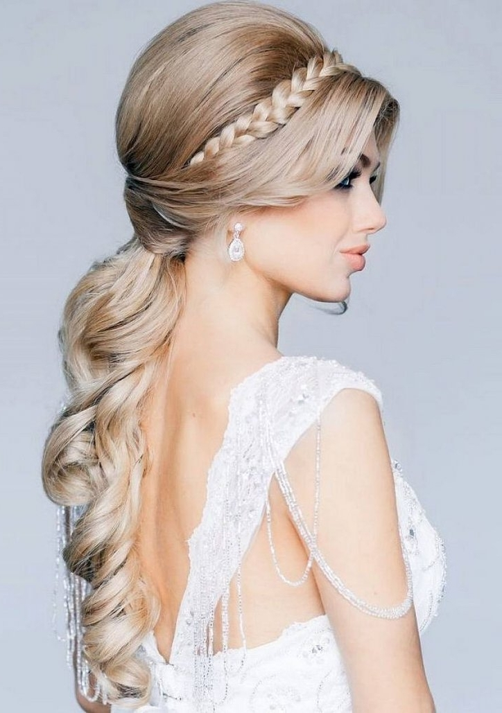 Wedding Hairstyles Ideas Side Ponytail Front Braided Half Up Long Intended For Wedding Hairstyles With Side Ponytail Braid (View 7 of 15)