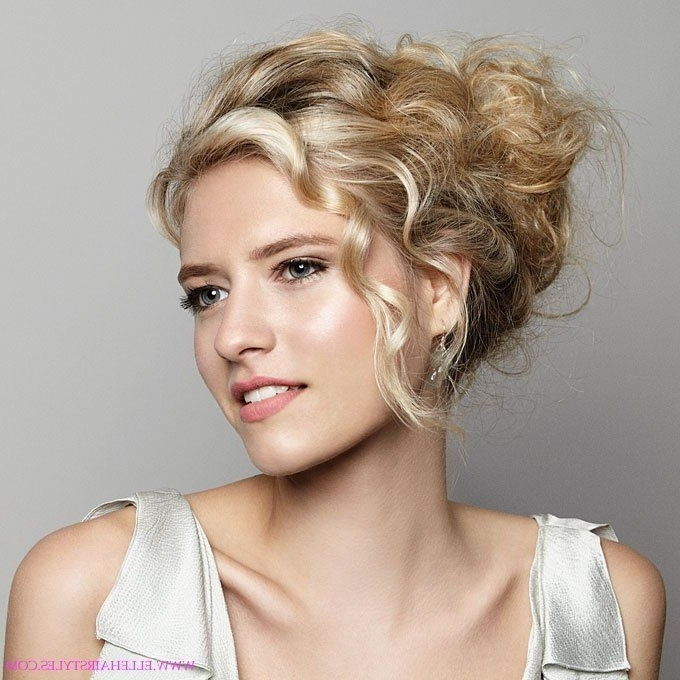 Wedding Hairstyles Ideas, Side Ponytail Messy Updo Curly Hairstyles Inside Wedding Guest Hairstyles For Long Curly Hair (View 12 of 15)