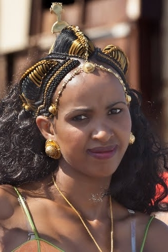 Wedding Hairstyles In Ethiopian Beautiful Eritrean Lady At The With Regard To Ethiopian Wedding Hairstyles (View 7 of 15)