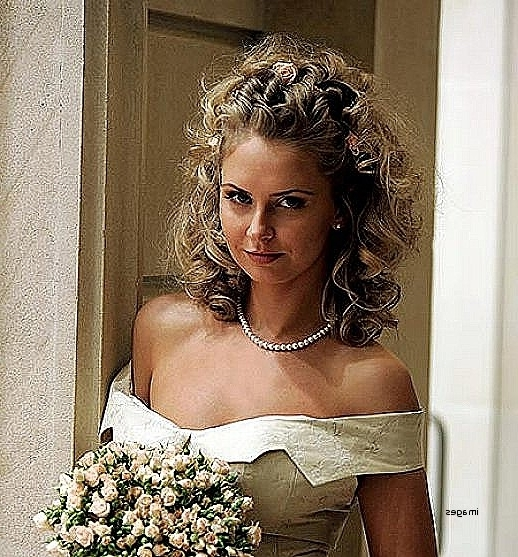 Wedding Hairstyles: Inspirational Wedding Hairstyles For Medium With Regard To Wedding Hairstyles For Shoulder Length Curly Hair (View 9 of 15)