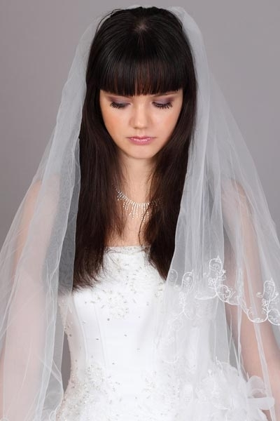 Wedding Hairstyles Long Hair Down With Veil | Best Wedding Hairs With Regard To Wedding Hairstyles For Long Hair And Bangs (View 15 of 15)
