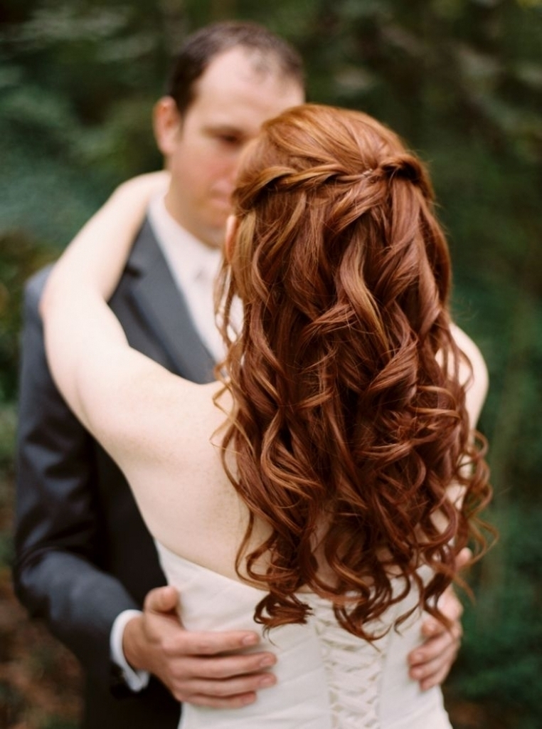 Wedding Hairstyles Long Red Hair 25 Cute Redhead Bride Ideas On Within Wedding Hairstyles For Long Red Hair (View 13 of 15)