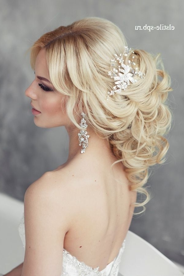 Wedding Hairstyles : Long Wavy Wedding Hairstyle With Headpiece Regarding Wedding Hairstyles With Headpiece (View 6 of 15)