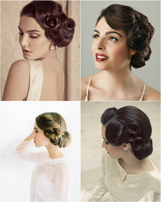 Wedding Hairstyles Looks: Wedding Updos 2015 – Vpfashion Pertaining To Vintage Updo Wedding Hairstyles (View 15 of 15)