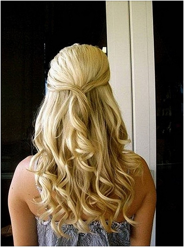 Wedding Hairstyles: Luxury Wedding Hairstyles For Long Curly Hair For Hair Half Up Half Down Wedding Hairstyles Long Curly (View 5 of 15)