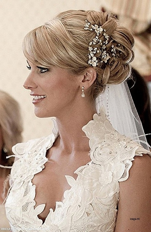 Wedding Hairstyles: Luxury Wedding Hairstyles Updos With Veil Pertaining To Updos Wedding Hairstyles With Veil (View 11 of 15)