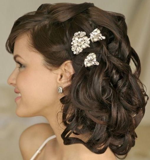 Wedding Hairstyles Medium Length 8 | Wedding Hair | Pinterest Intended For Indian Bridal Hairstyles For Medium Length Hair (View 15 of 15)