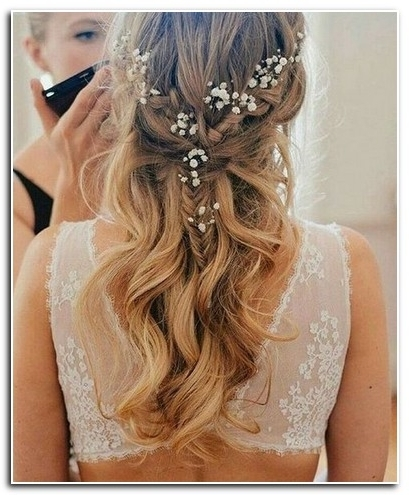 Wedding Hairstyles Medium Length Hair Down | New Hairstyle Designs With Wedding Hairstyles For Medium Long Hair (View 15 of 15)