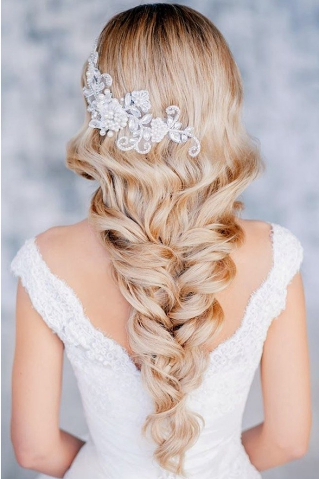 Wedding Hairstyles : Ponytail Bridal Hairstyles 2016 Hair Pertaining To Wedding Hairstyles With Hair Accessories (View 15 of 15)