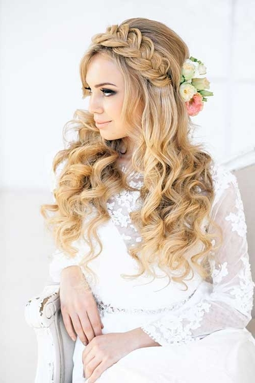 Wedding Hairstyles : Pretty Bride Blonde Long Hairstyles For Wedding Intended For Wedding Hairstyles For Long Blonde Hair (View 5 of 15)