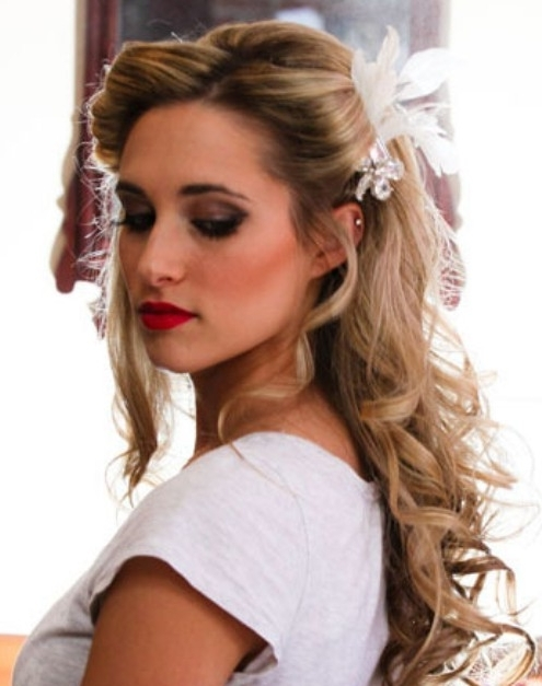 Wedding Hairstyles: Pretty Half Up Half Down – Pretty Designs Inside Half Up Half Down Wedding Hairstyles For Medium Length Hair With Fringe (View 5 of 15)