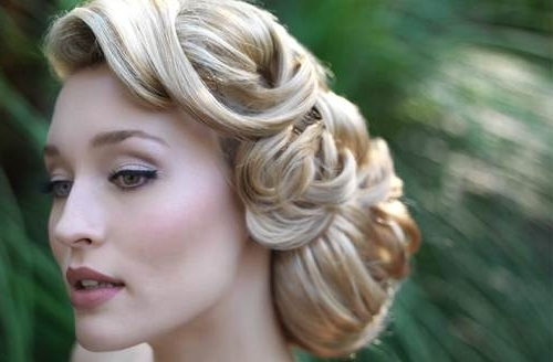 Wedding Hairstyles Retro Bride In Wedding Hairstyles That Cover Ears (View 6 of 15)