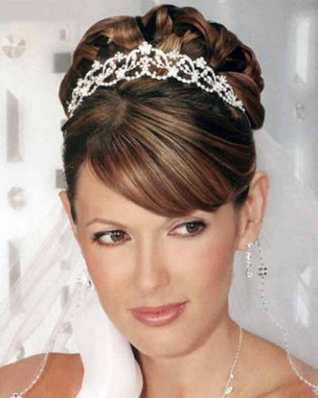Wedding Hairstyles Shoulder Length Hair | Behairstyles Intended For Wedding Hairstyles For Medium Length Hair With Tiara (View 13 of 15)