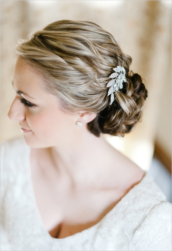 Wedding Hairstyles Simple Wedding Hair Pieces Bridal Hair Hair Intended For Wedding Hairstyles With Jewelry (View 2 of 15)