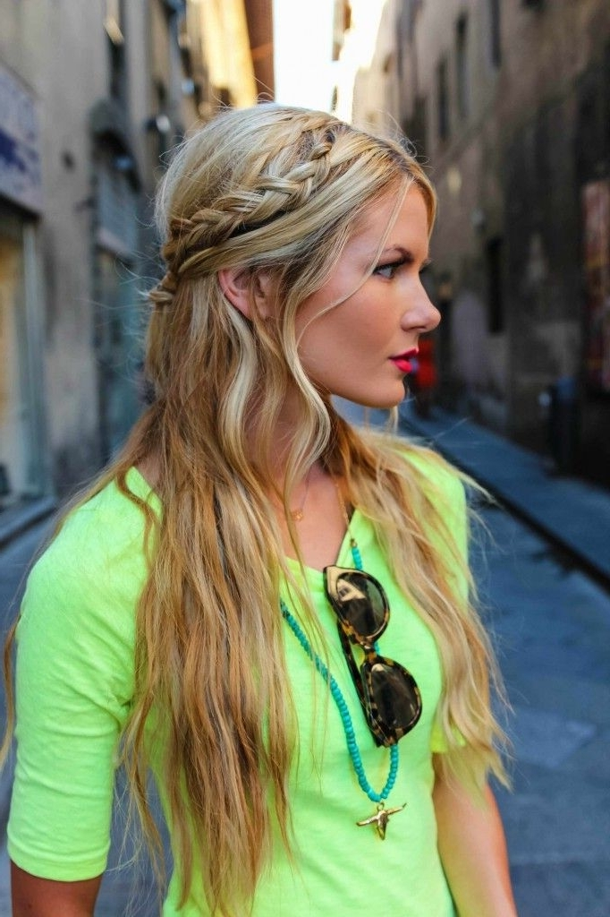 Wedding Hairstyles That Are Half Up But Fully Beautiful | Blonde With Regard To Middle Part Wedding Hairstyles (View 13 of 15)