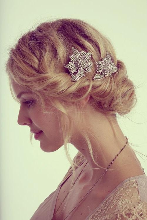 Wedding Hairstyles Thin Hair   Best Wedding Hairs Regarding Updos Wedding Hairstyles For Short Hair (View 14 of 15)