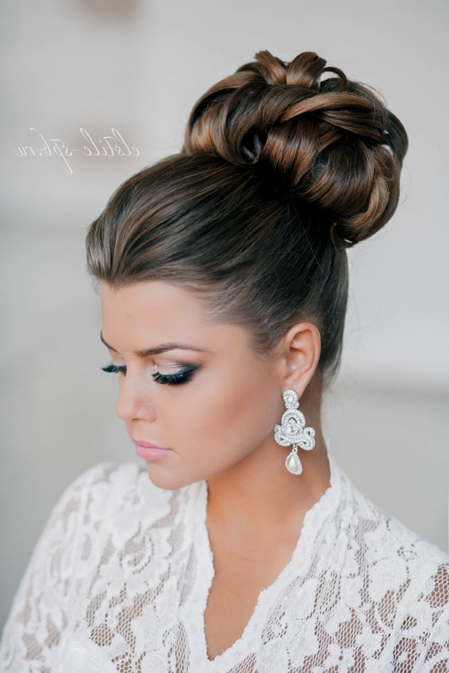 Wedding Hairstyles | Tulle & Chantilly Wedding Blog With Elegant Updo Wedding Hairstyles (View 15 of 15)