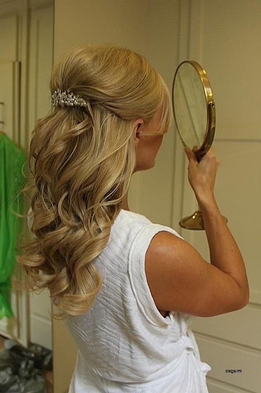 Wedding Hairstyles: Unique Half Up Half Down Wedding Hairstyles For Throughout Medium Length Hair Half Up Wedding Hairstyles (View 12 of 15)