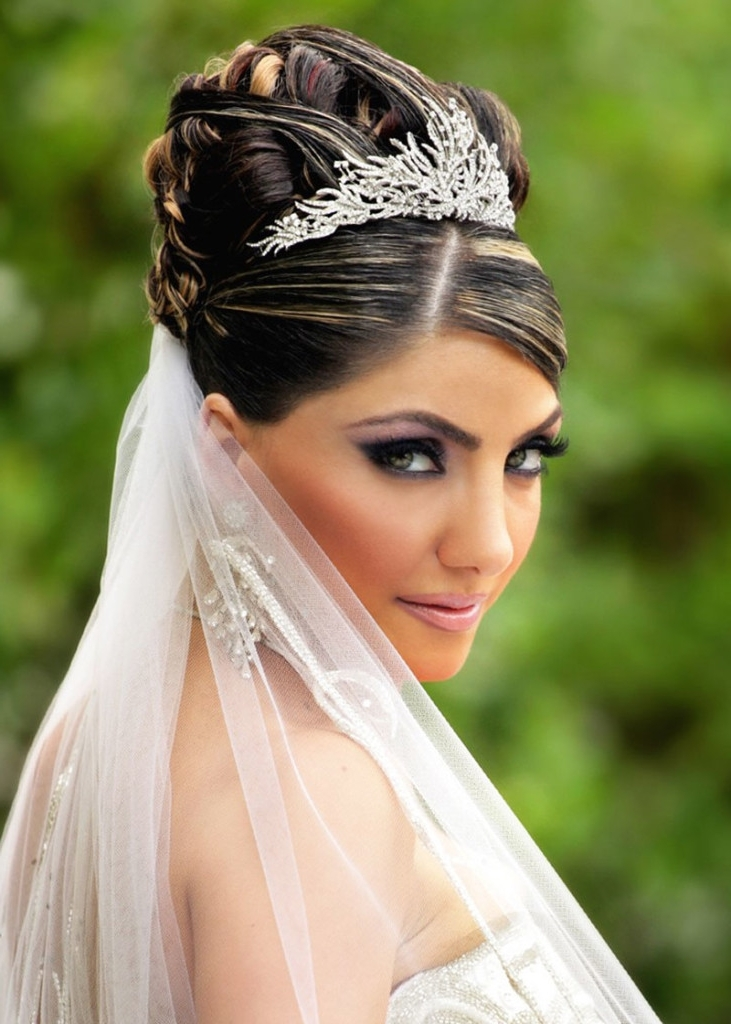 Wedding Hairstyles Updos With Veil And Tiara Women's Fashion Wedding Within Updos Wedding Hairstyles With Veil (View 14 of 15)
