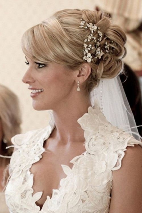 Wedding Hairstyles : Wedding Hairstyles For Medium Length Hair With Regard To Bridal Hairstyles For Medium Length Hair With Veil (View 15 of 15)
