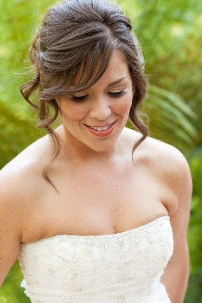 Wedding Hairstyles : Wedding Hairstyles Medium Hair Half Up Half Pertaining To Wedding Hairstyles For Mid Length Hair With Fringe (View 13 of 15)