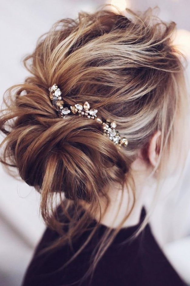 Wedding Hairstyles : Wedding Updos For Medium Length Hair Pictures Inside Medium Length Updo Wedding Hairstyles (View 3 of 15)
