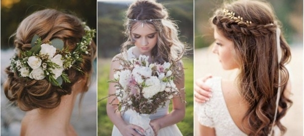 Wedding Hairstyles | Weddinginclude | Wedding Ideas Inspiration Blog Within Wedding Hairstyles For Long Boho Hair (View 15 of 15)