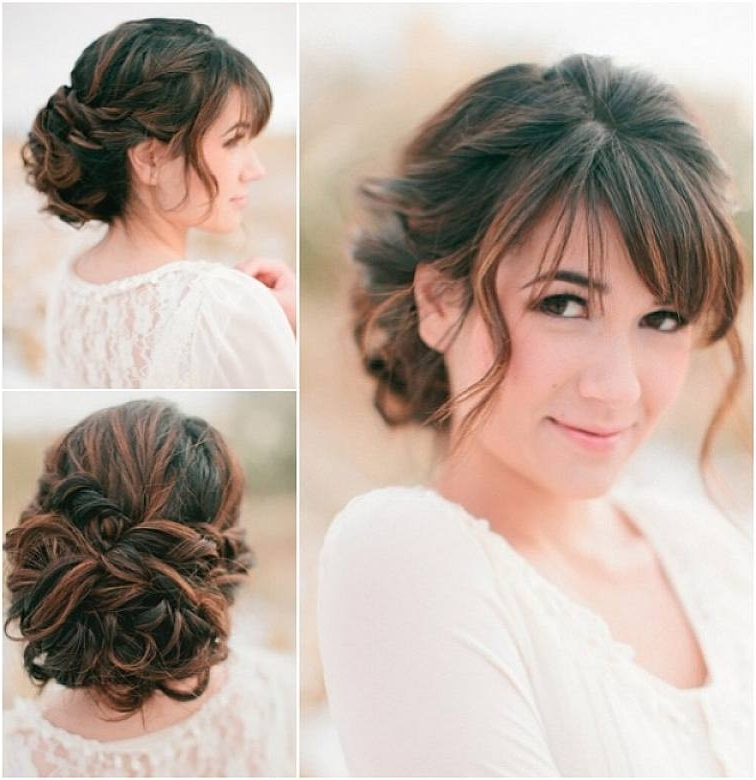 Wedding Hairstyles With Bangs Wedding Hairstyles With Bangs – Among Hd Throughout Wedding Hairstyles For Long Hair With Fringe (View 13 of 15)