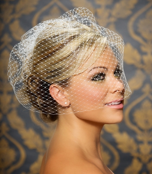 Wedding Hairstyles With Birdcage Veil – Hairstyle For Women & Man Pertaining To Wedding Hairstyles For Short Hair With Birdcage Veil (View 4 of 15)