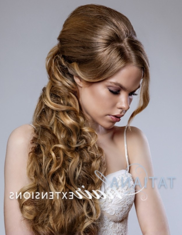Wedding Hairstyles With Clip In Hair Extensions With Wedding Hairstyles With Extensions (View 11 of 15)