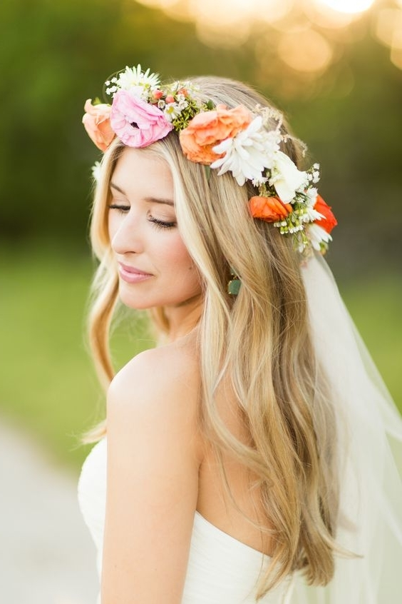 Wedding Hairstyles With Flowers And Veil | Wedding Ideas Regarding Wedding Hairstyles With Veil And Flower (View 5 of 15)