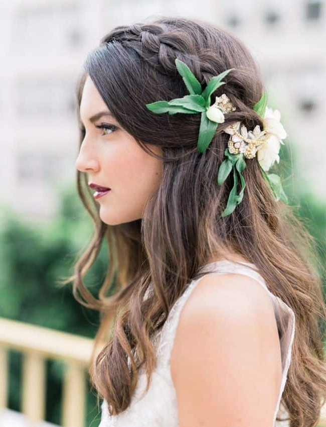 Wedding Hairstyles With Flowers Best Photos – Cute Wedding Ideas In Wedding Hairstyles With Flowers (View 12 of 15)