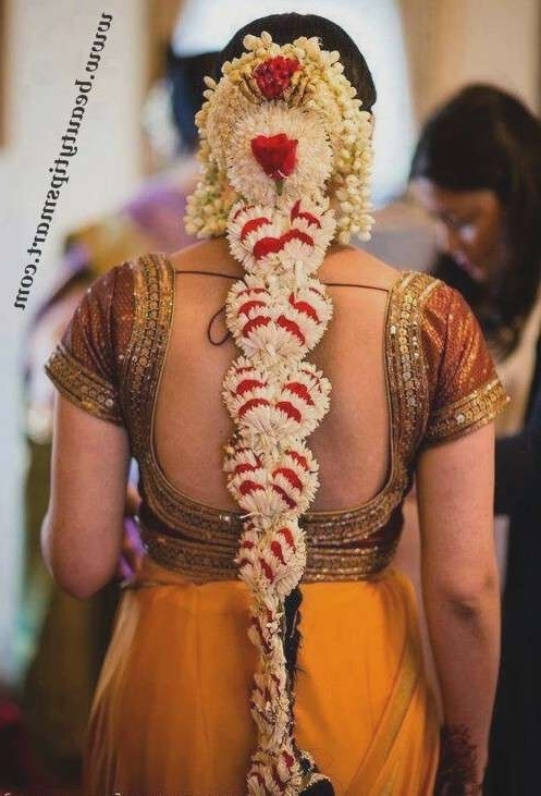 Wedding Hairstyles With Flowers For Long Hair Awesome South Indian Throughout South Indian Wedding Hairstyles For Long Hair (View 14 of 15)