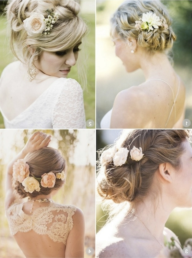 Wedding Hairstyles With Flowers | Hairstyles | Hair Photo Pertaining To Wedding Hairstyles For Medium Length Hair With Flowers (View 6 of 15)