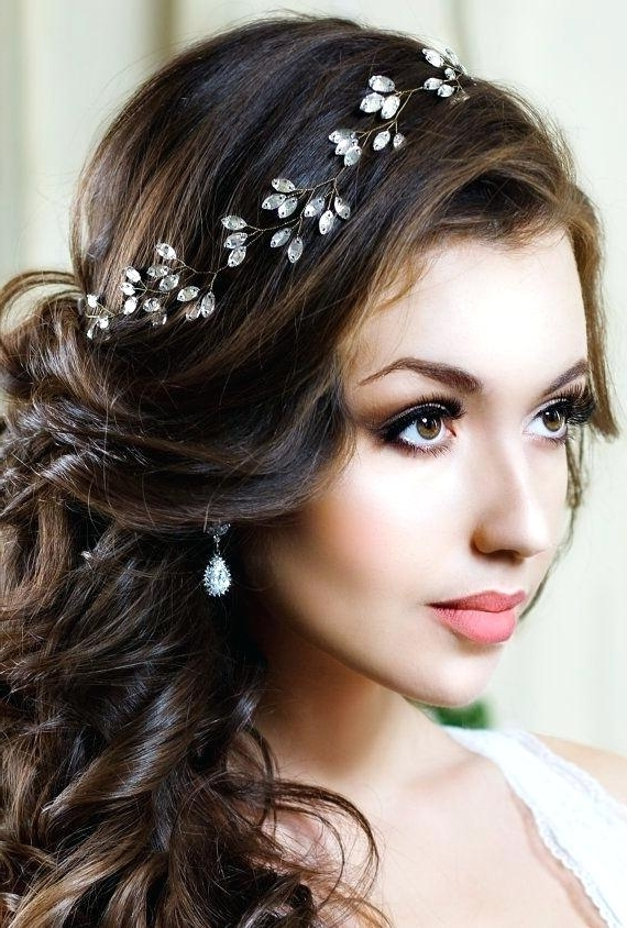 View Gallery of Tiara Wedding Hairstyles (Showing 14 of 15 Photos)