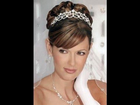 Wedding Hairstyles With Tiara – Youtube Throughout Wedding Hairstyles With Tiara (View 2 of 15)