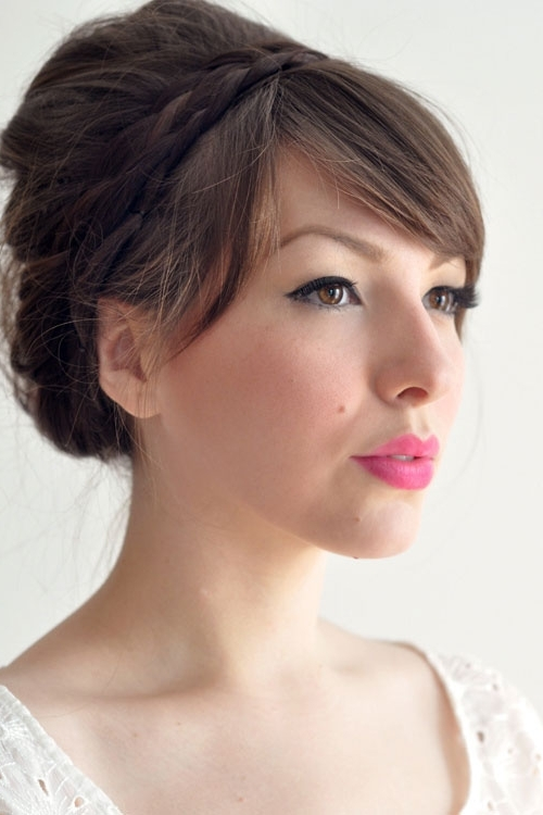 Wedding Hairstyles With (Unexpected) Bangs Pinned Back? For Wedding Hairstyles With Fringe (View 13 of 15)