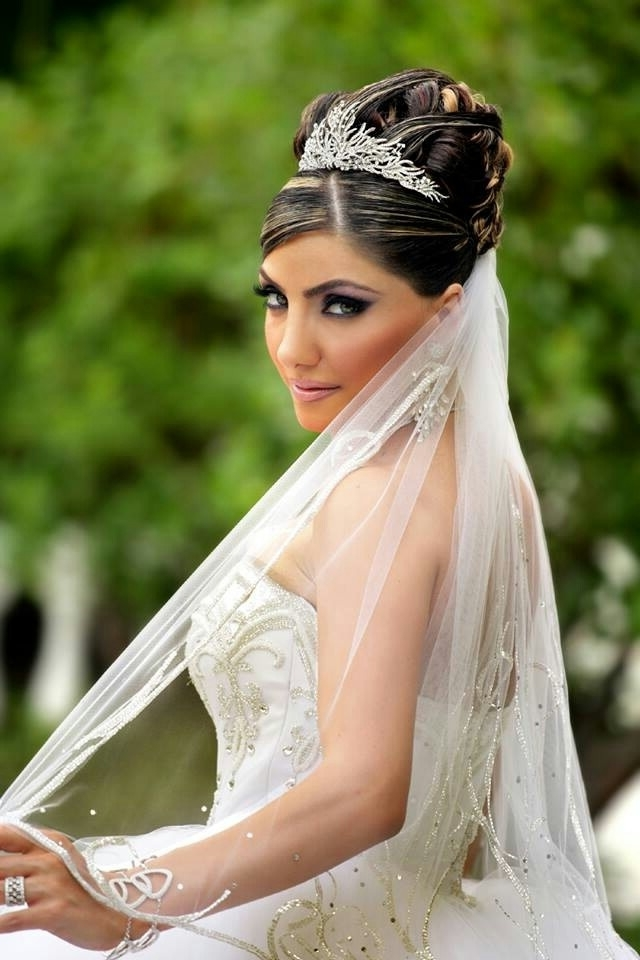Wedding Hairstyles With Veil And Tiara – Beautiful Bride Hairstyles Regarding Wedding Hairstyles With Tiara And Veil (View 14 of 15)