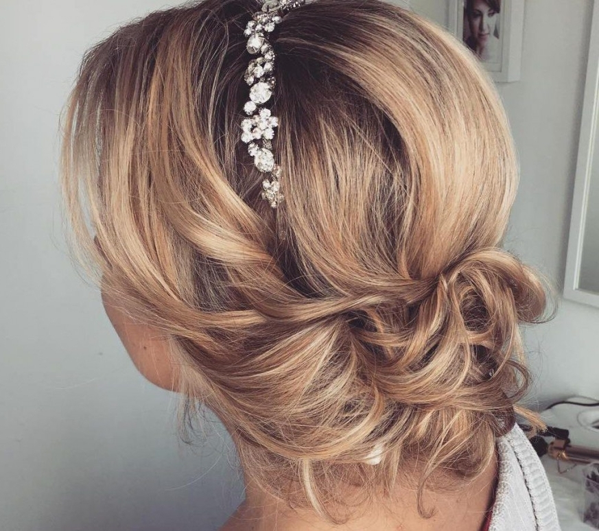 Wedding Hairstylesr Medium Length Mid Hair With Fringe Bridal Long Within Wedding Hairstyles For Shoulder Length Hair With Fringe (View 9 of 15)