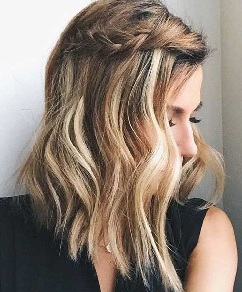Wedding Ideas: Wedding Hairstyles For Short Hair Half Up Half Down Inside Down Short Hair Wedding Hairstyles (View 15 of 15)