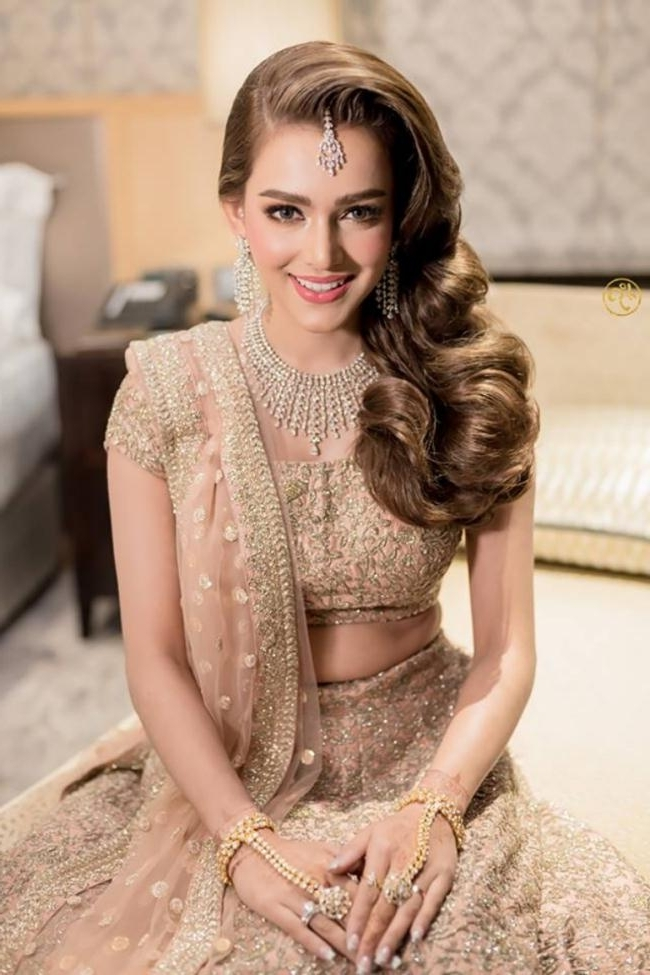 Wedding Party Hairstyles For Long Hair Indian 2018 Party Hairstyles 2018 Pertaining To Hairstyles For Long Hair For A Wedding Party (View 14 of 15)