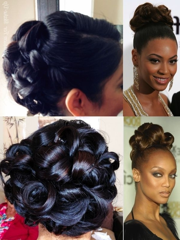 Wedding Pin Curl Updo Inspiredbeyonce And Tyra's Hairstyle For Pin Curls Wedding Hairstyles (View 2 of 15)