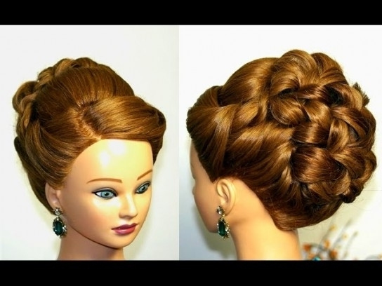 Wedding Prom Hairstyle For Long Hair. Updo Tutorial (View 14 of 15)