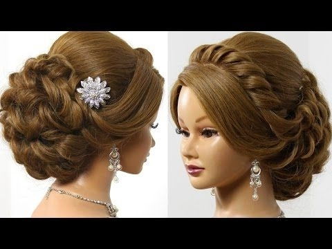 Wedding Prom Hairstyle For Long Hair, Updo Tutorial With Braided Regarding Wedding Prom Hairstyles For Long Hair Tutorial (View 3 of 15)